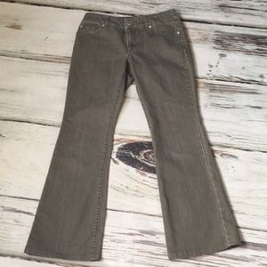 Chicos Bootcut Jeans Denim Taupe Brown 00
